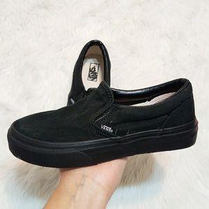 Vans Black Slip-Ons